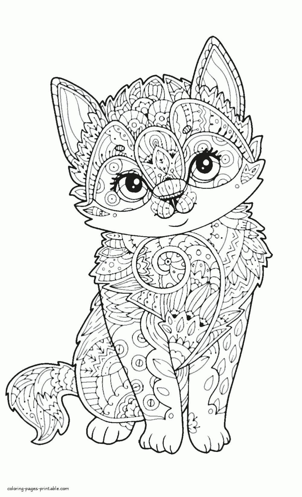 Free Printable Animal Coloring Pages For Adults in 2020