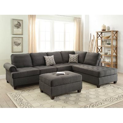 Tremendous Winston Porter Brylee Reversible Sectional Products Sofa Gmtry Best Dining Table And Chair Ideas Images Gmtryco