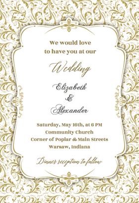 Tasteful Tapestry Frame Wedding Invitation Template Free Greetings Island Free Wedding Invitation Templates Wedding Invitation Format Wedding Invitations Printable Templates