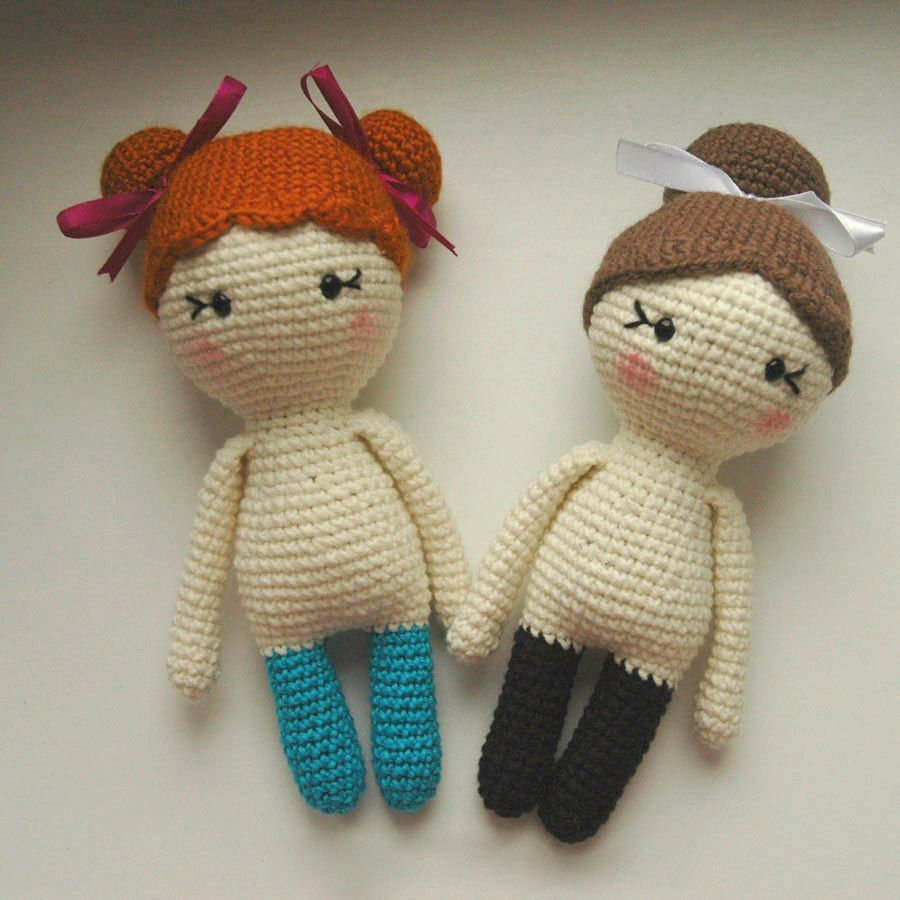 Amigurumi Chibi Doll Pattern Free : Little lady doll crochet pattern free amigurumi knitted