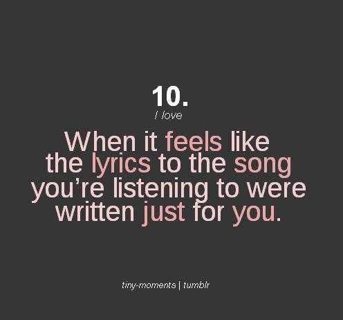I love when