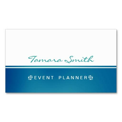 Wedding And Event Planner Business Card Templates Zazzle Com