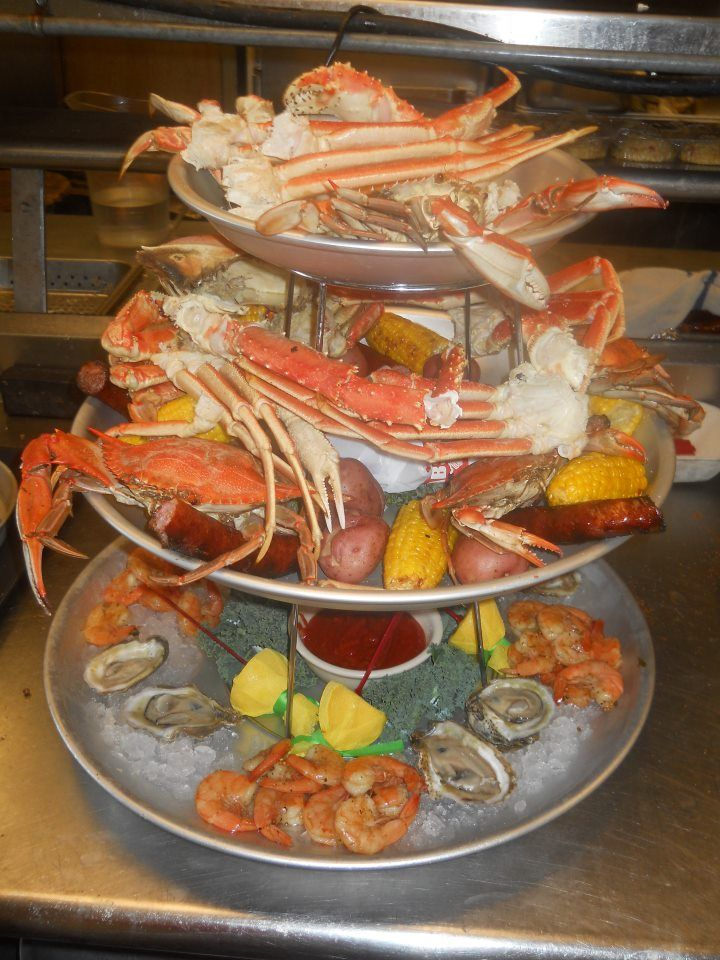 Seafood Tower From Crabs We Got Em Pensacola Beach Fl