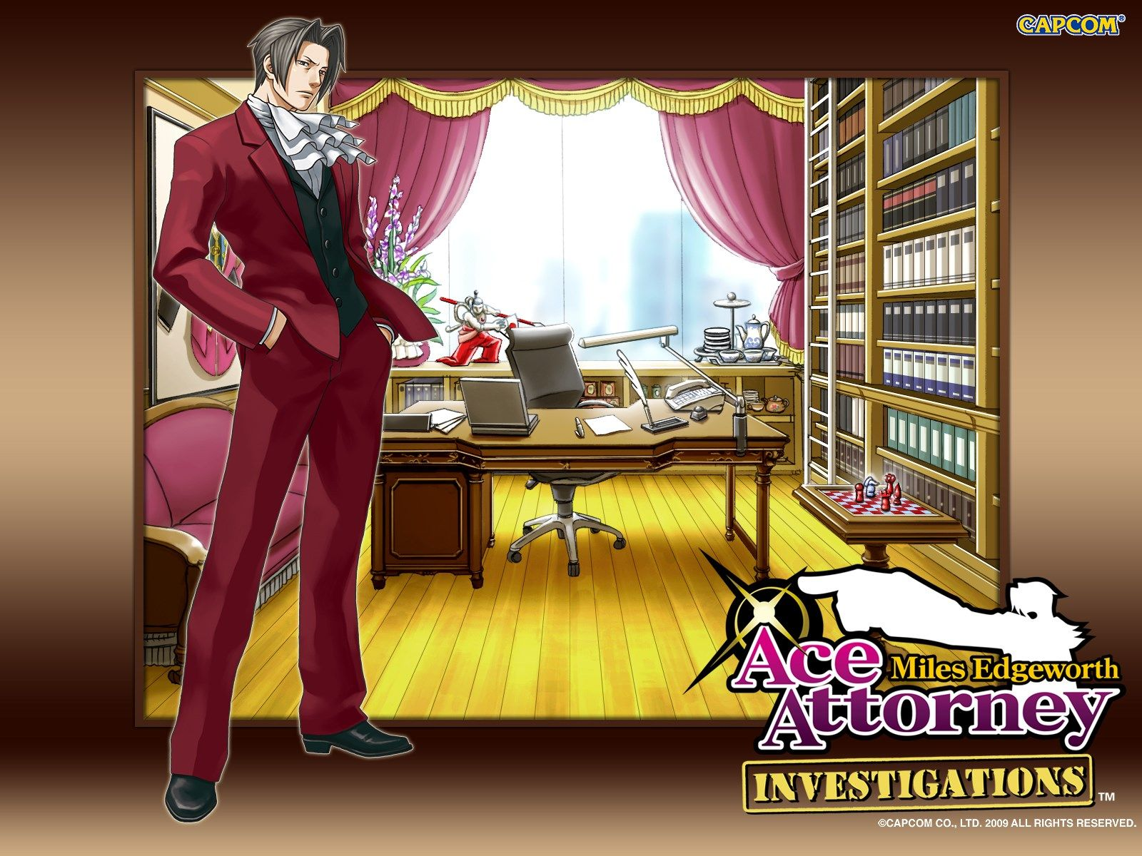 Ace Attorney Investigations Miles Edgeworth Full Hd Background