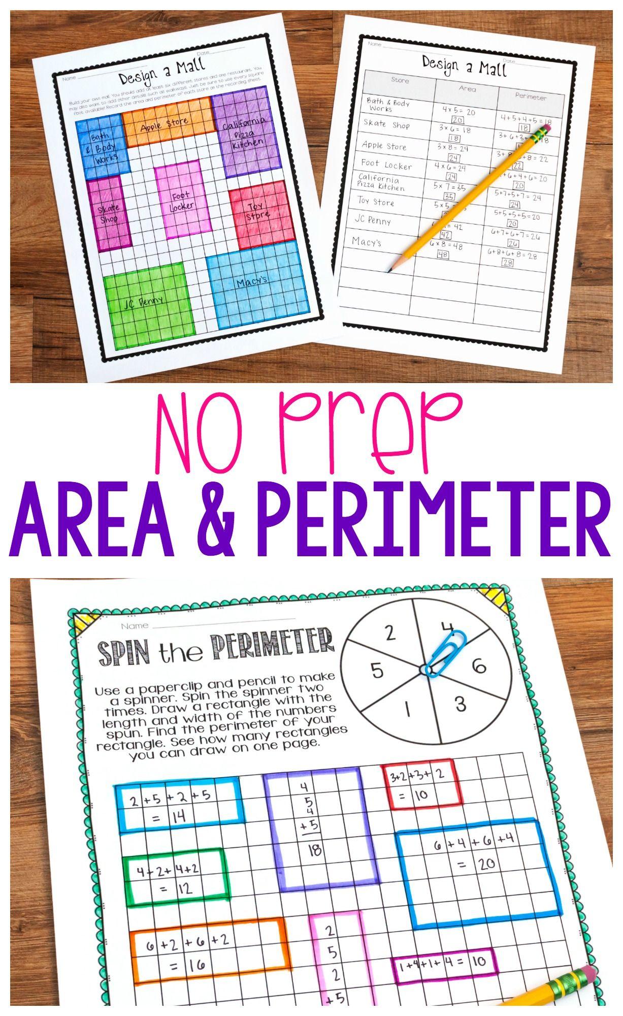 No Prep Area And Perimeter