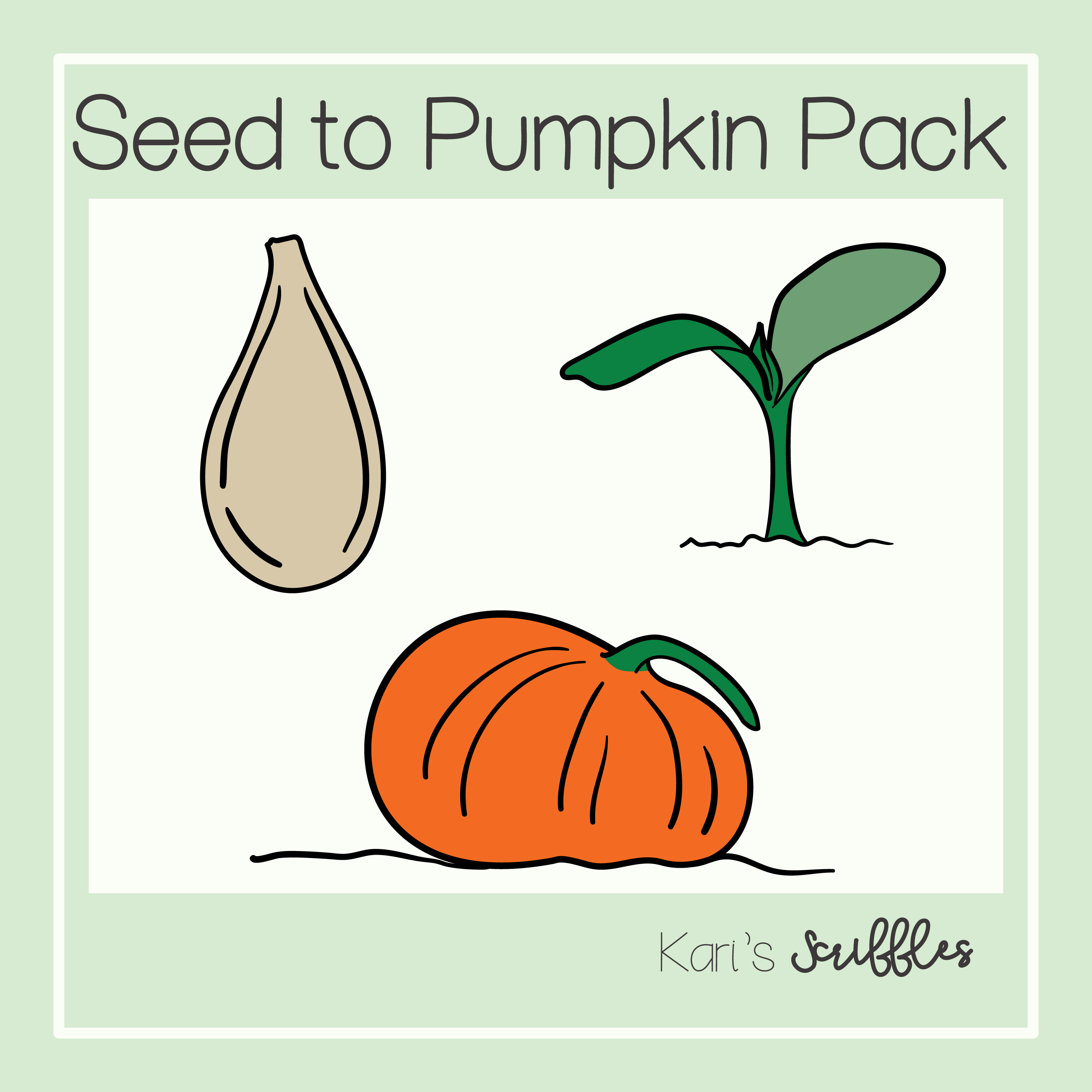 Seed To Pumpkin Clipart Pack In