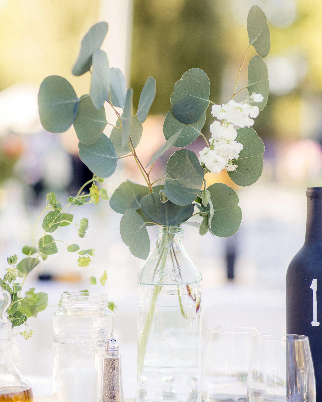 The Most Unique Ways To Use Eucalyptus Throughout Your Wedding Eucalyptus Wedding Decor Spring Wedding Centerpieces Wedding Centerpieces