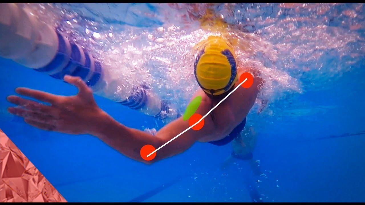 Backstroke swimming technique Rotation Swim faster