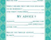 Bridal Shower/Wedding Guest Book Alternative Mad Lib Cards - Cowboy Theme. $12.00, via Etsy.