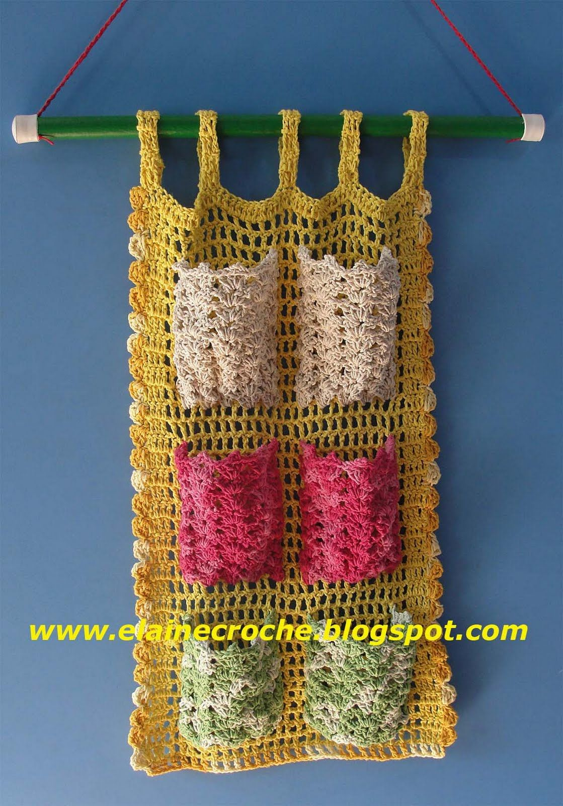 "Organizer. This could be made out of recycled plastic bag ""yarn"". That would make it great for the shower!"