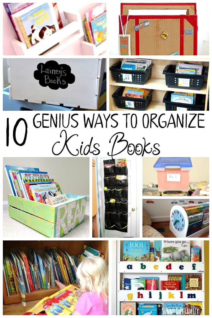 Lovely 10 Genius Ways To Organize Kids Books