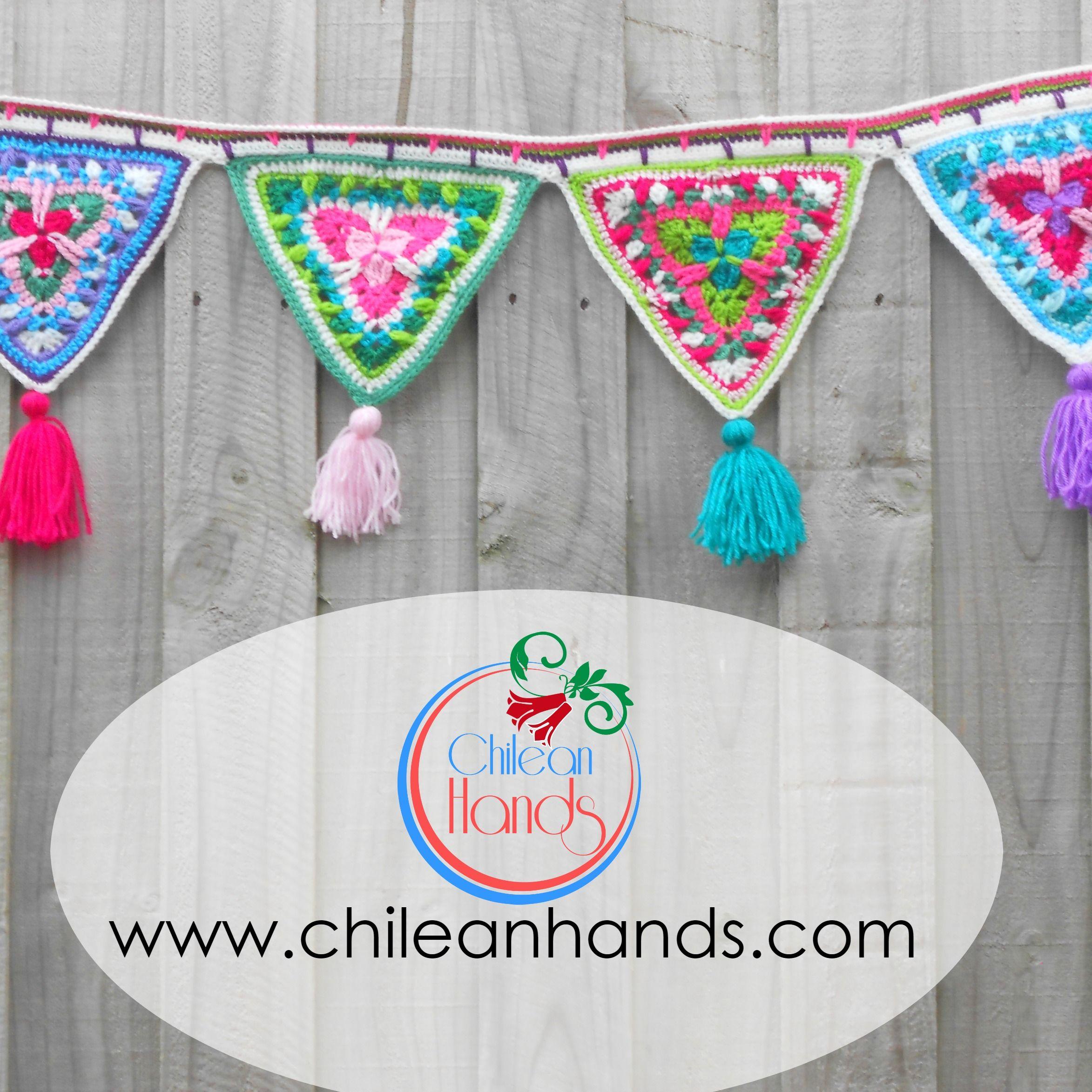 Banderines de caramelo tipo mandala – patron gratis! | Chilean Hands ...