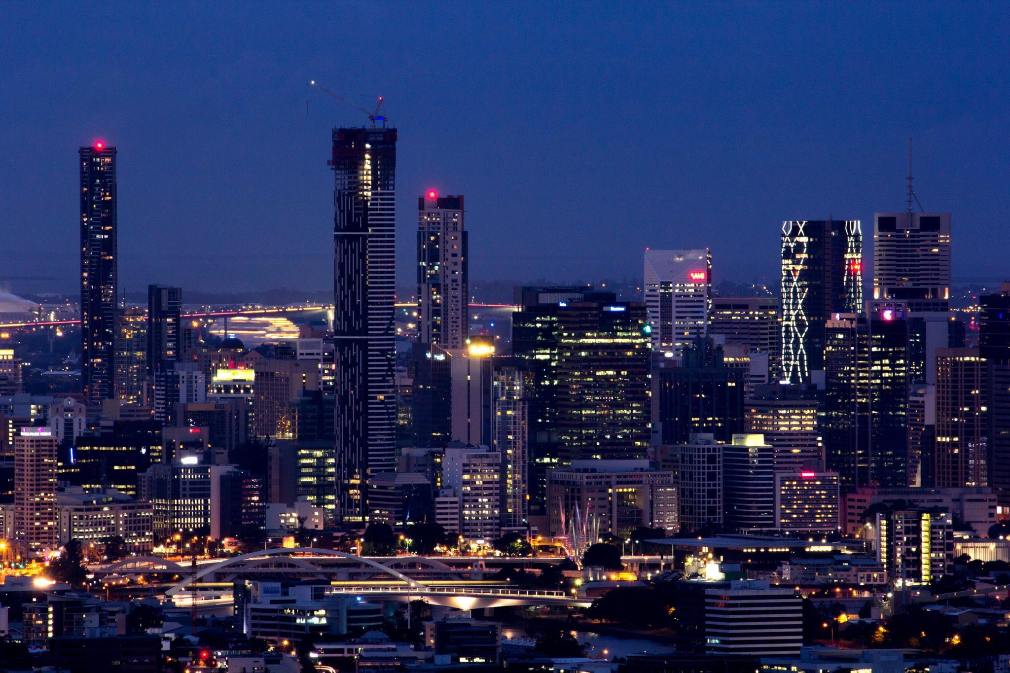 Brisbane Skyline - View of Brisbane City from Mt Coot-tha