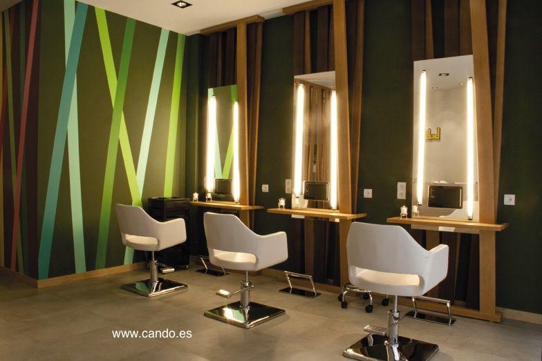 Interior construcci n dise o arquitectura trabajo de cando y piedrapapeltijera en peluquer a Diseno de peluquerias