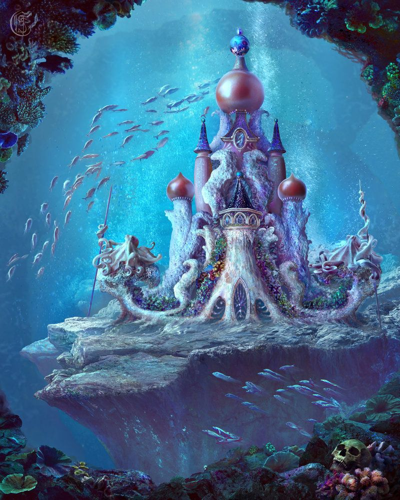 Sea Queen's Castle by Ganusia on DeviantArt