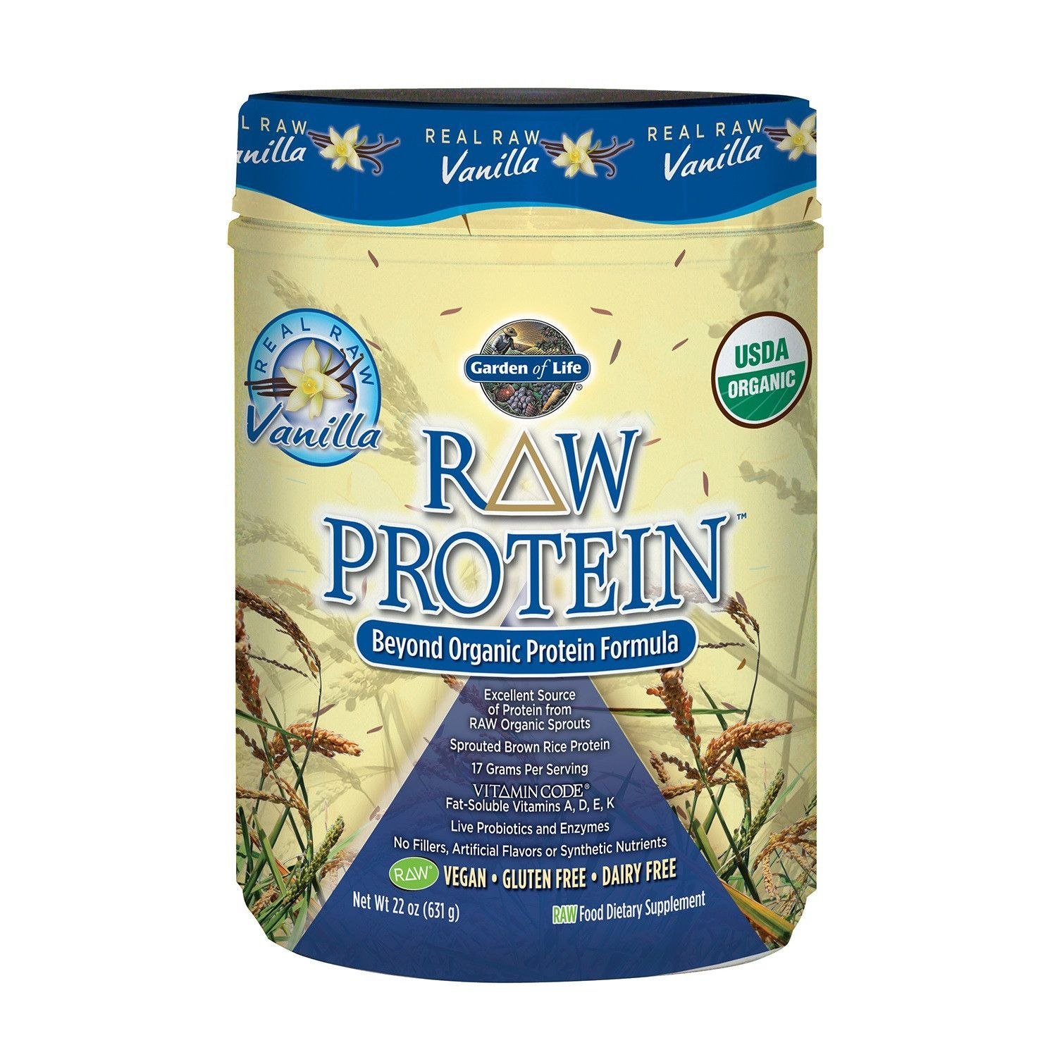 Garden Of Life Raw Protein Vanilla 22 oz (631 g