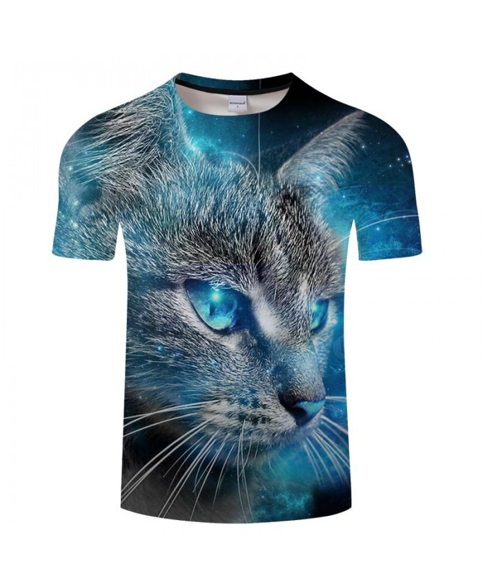 Blue Eyes Cat 3d Printed Men Tshirt Crossfit Shirt Casual Summer Short Sleeve Male Tshirt Brand Men O Neck Tops Tee At 3dcoolshop Com In 2020
