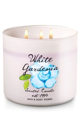 White Gardenia 3 Wick Candle Bath Body Works The Perfect 3