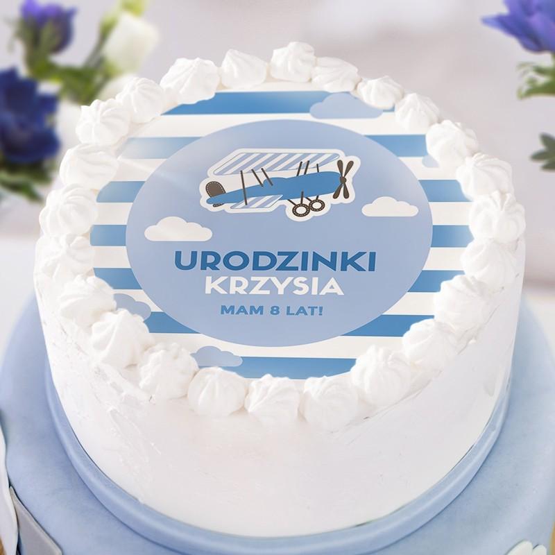 Pin Na Oplatki Na Tort Urodzinowy