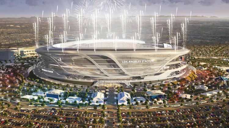 Chargers And Raiders Overhaul Design For Potential L A Stadium Stadium Architecture Stadium Design Stadium