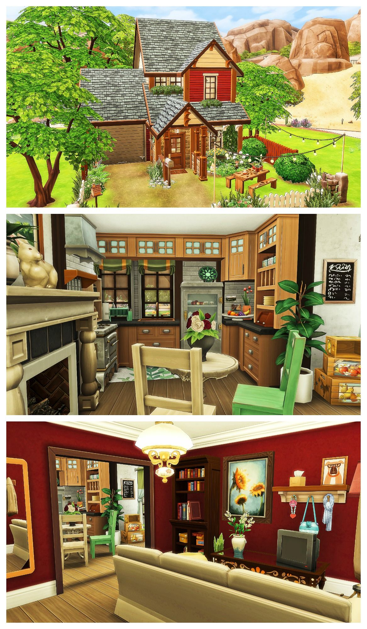 Sims 4 Cottage House Speed Build Download Sims House Sims Building Sims 4 House Plans