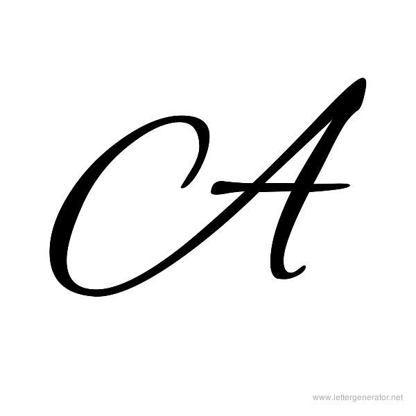 Alex Brush Printable Cursive Alphabet Letter A | Makeup & Nails ...