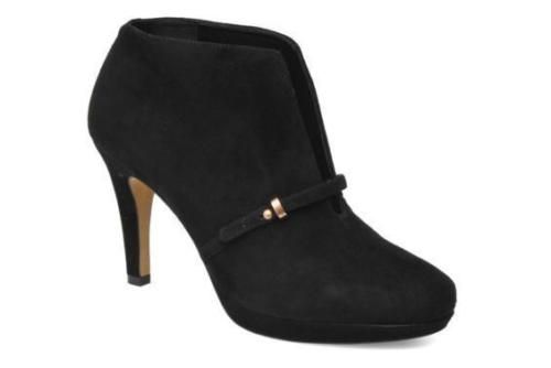 98c50cff97e3 NEW-CLARKS-Ladies-Blair-Lockwood-Black-Suede-High-Heel-Ankle-Boots-Shoes -Size-8