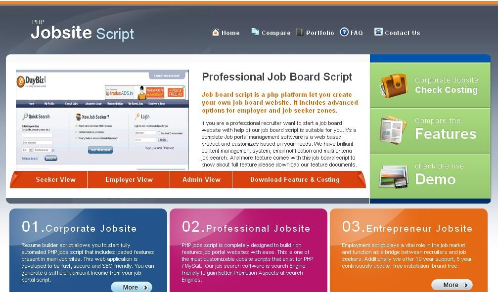 This PHP jobs script is mostly developed for job seekers to upload - resume search engine