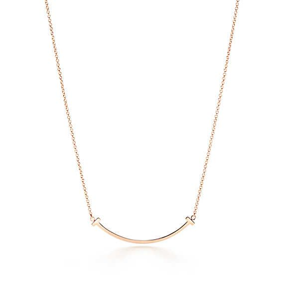 18kt yellow gold Tiffany T smile pendant necklace - Metallic Tiffany & Co. M5iE3