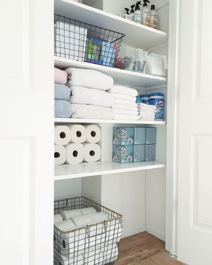 Organized Bathroom Closet | Pinterest | Organized bathroom, Bathroom ...