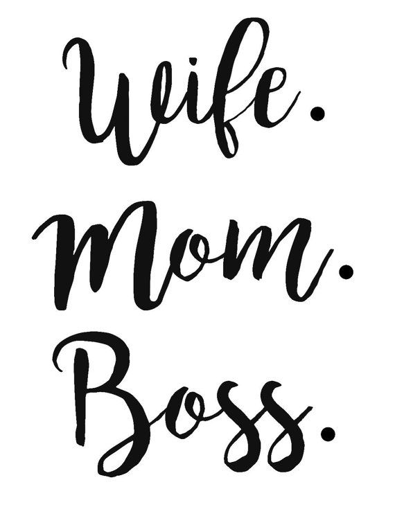 Wife Mom Boss Decal FREE Custom Color Women by