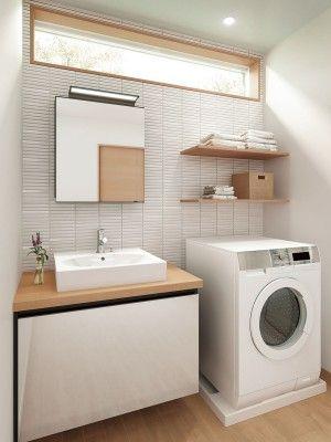 陶器のボウルと木目調カウンターの組み合わせ清潔感のある空間に Inax ルミシス Undefined Lixil Undefinedhttp Www Lixil Co Jp リフォーム バスルーム 洗面化粧台 おしゃれ モデル住宅