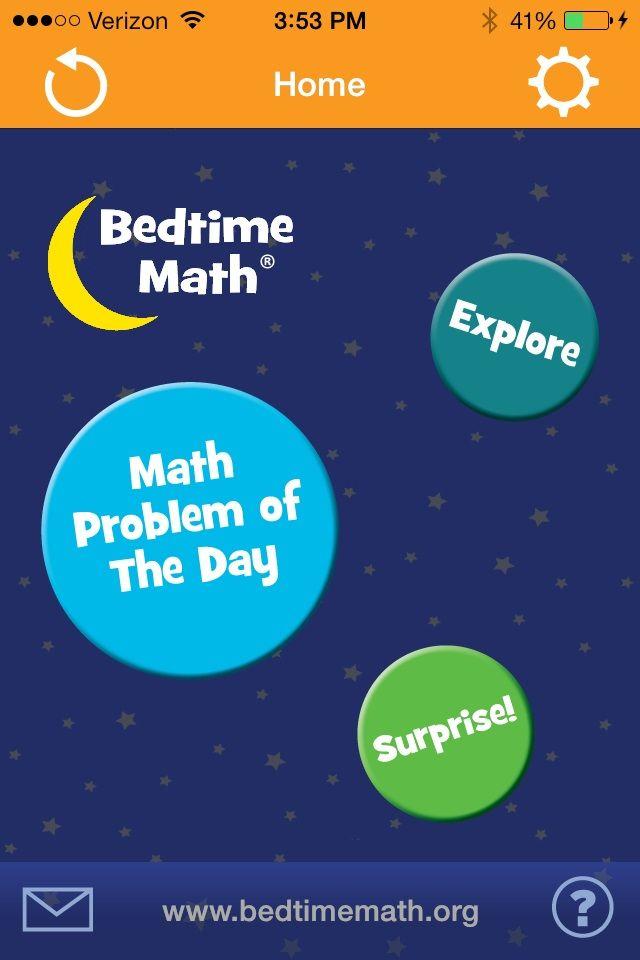 Bedtime Math - fun, free math app! | Library: STEAM Ideas ...