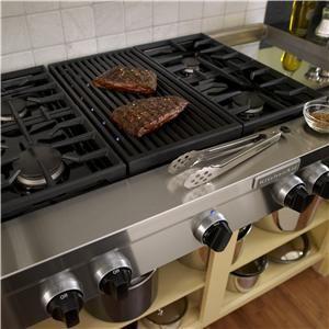 Kitchenaid Kgcu484vss 48 Inch 4 Burner Gas Rangetop Commercial Style Stainless Steel Kitchen Appliances Luxury Kitchen Stove Kitchen Cooker