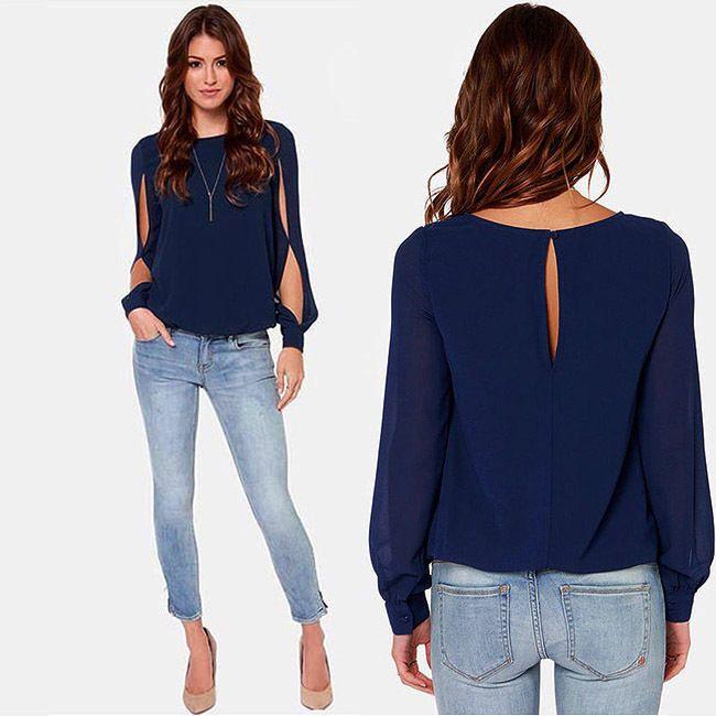 Moda Mujer Sexy Informal Suelta De Gasa Manga Larga Camiseta Top Blusa Camiseta Nueva | Ropa, calzado y accesorios, Ropa para mujer, Tops y blusas | eBay!