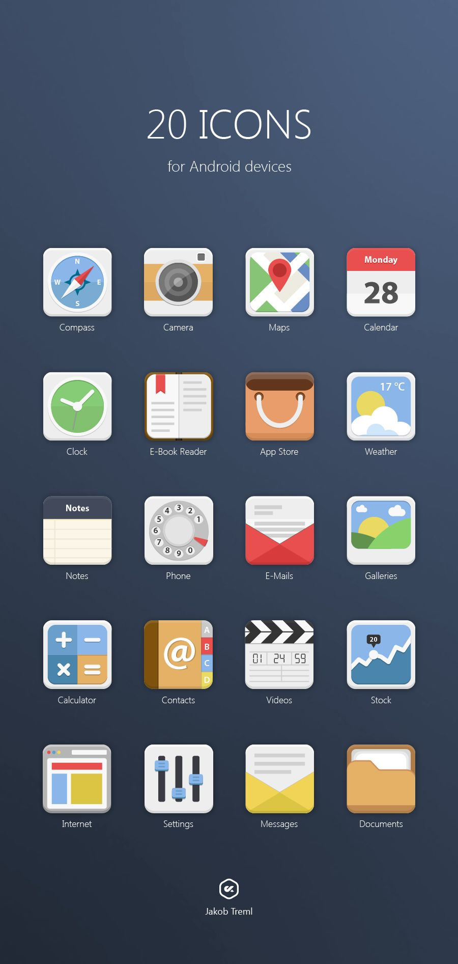 Details App icon, Android icons, App