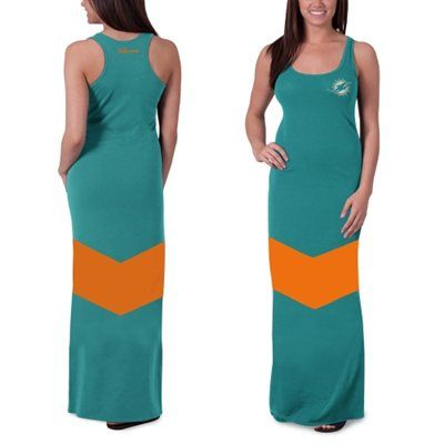 wholesale dealer 4d626 94d34 Women's Miami Dolphins '47 Brand Aqua Encore Maxi Dress ...