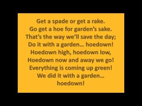 The Garden Hoedown Lyrics With Images Lyrics Spring Song Hoedown