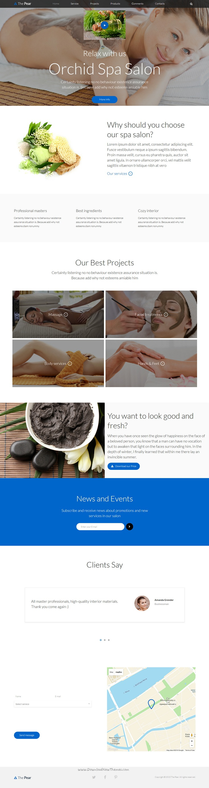 ThePear - Responsive HTML Onepage Template | Template