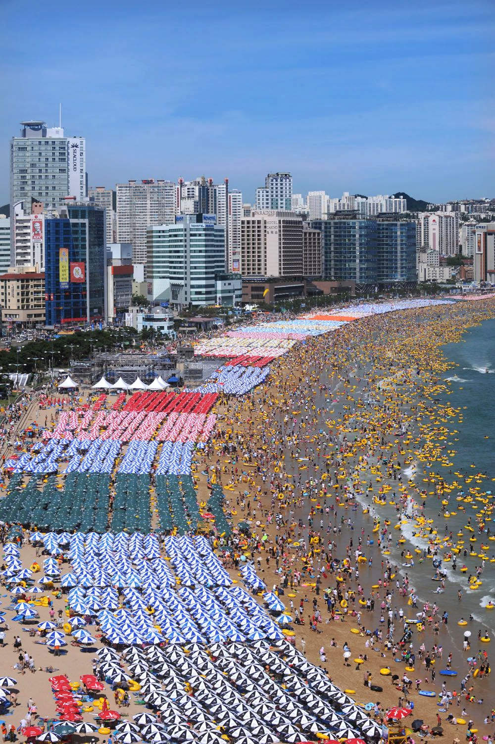 Haeundae Beach in Busan, South Korea. Not likely to be crowded in springtime but a beautiful sight to sea, nonetheless ;)
