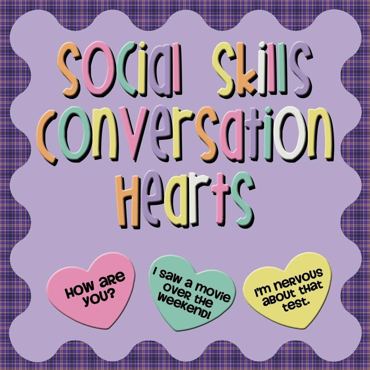 Fun Freebie Social Skills Conversation Hearts