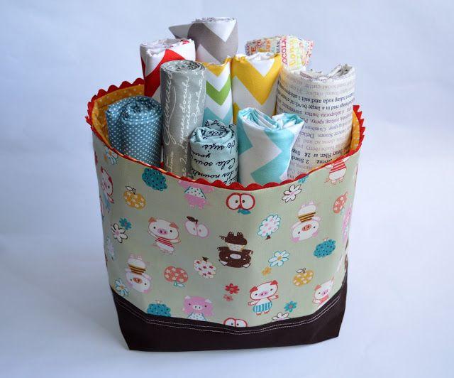 Sew Minty: A Fabric Basket Tutorial