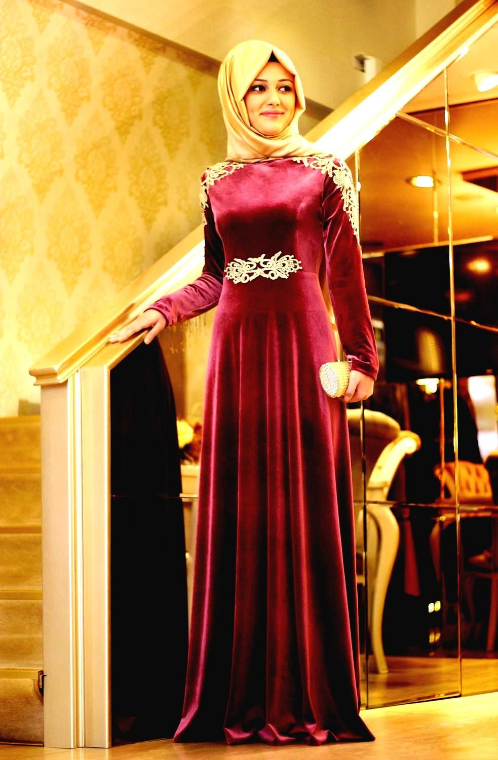 Modest burgundy outfits are great for winter period because this ...