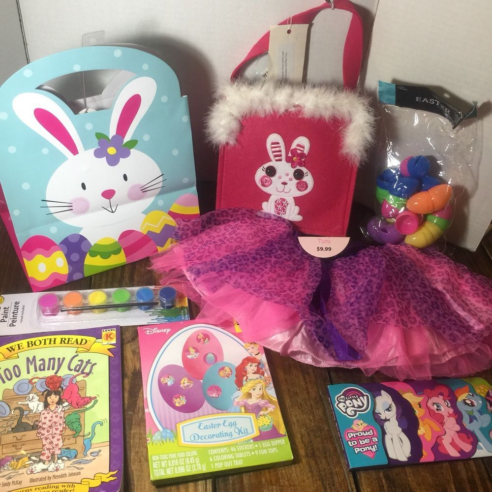 Easter little girls gift set activities more tutu hot pink felt easter little girls gift set activities more tutu hot pink felt bunny bag fur negle Image collections