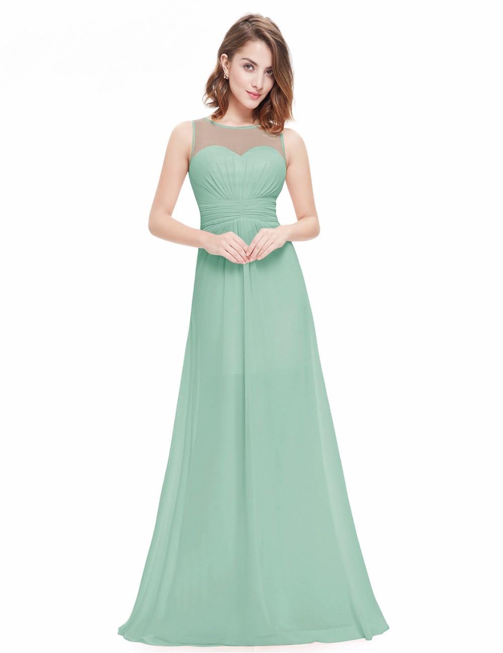 c14d1de543d4 Elegant Sleeveless Long Chiffon A-Line Bridesmaid Dress | Bridesmaid ...