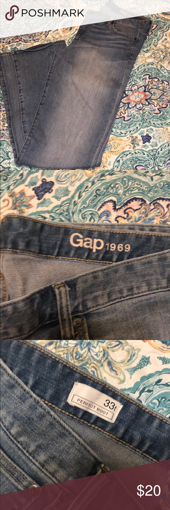 e25d0c9be2f Gap 1969 perfect bootcut jeans size 33T (16 Tall) Light wash Gap 1969  perfect