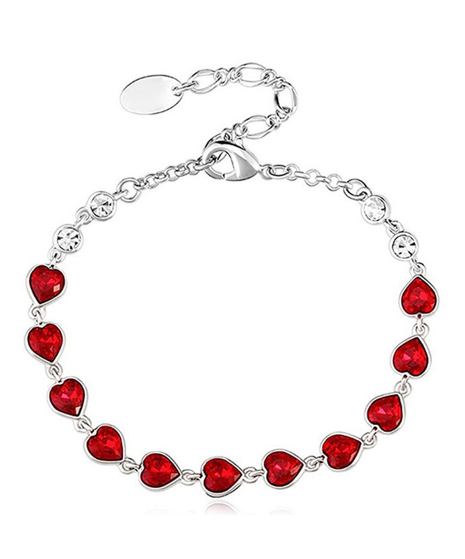b38ff8c81 Love this MESTIGE Heart Skipped a Beat Bracelet Made with SWAROVSKI  ELEMENTS by MESTIGE on #zulily! #zulilyfinds