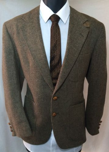 Men's Tweed Wool Blazer | English Country Style Sport Coat | 40S ...