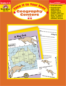 Take It to Your Seat: Geography Centers, Grades 4-5 - Teacher
