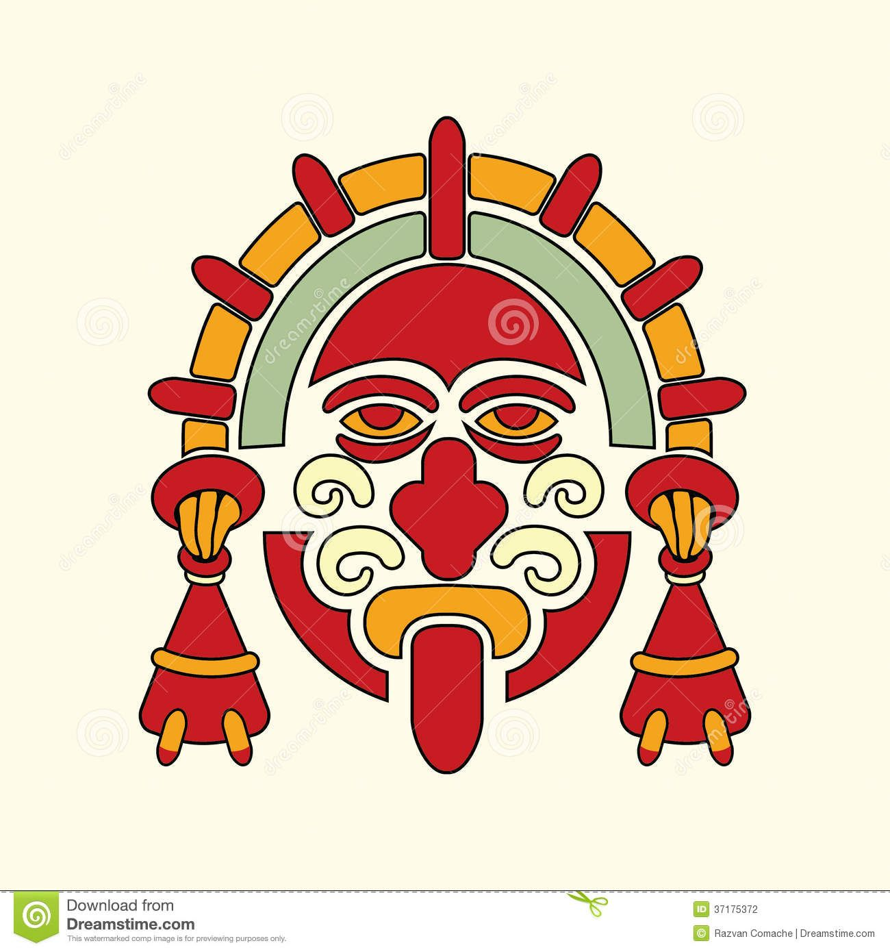 Aztec warrior symbol stock photography image 37175372 aztec photo about vector warrior mask symbol of aztec and pre columbian culture 37175372 biocorpaavc Gallery